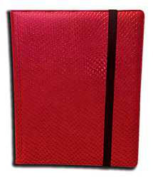 9-Pocket Dragonhide Sideloading Binder: Red