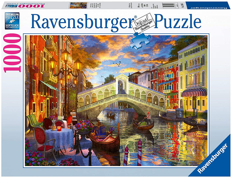 Puzzle - Ravensburger - Sunset over Rialto (1000 Pieces)