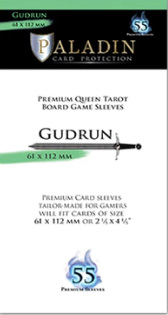 Paladin Card Protection: Gudrun (64 mm x 112 mm, Premium Queen Tarot)