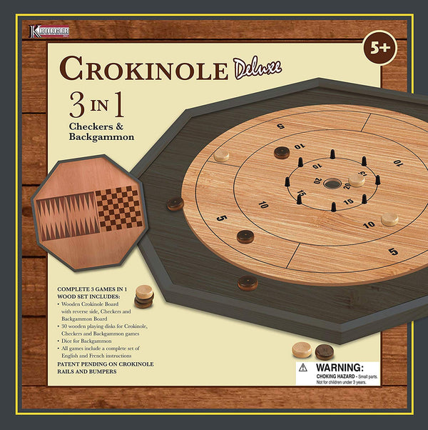 Crokinole: 3 in 1 Deluxe Edition