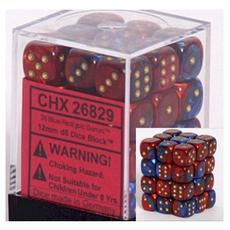 Chessex - 36D6 - Gemini - Blue-Red/Gold