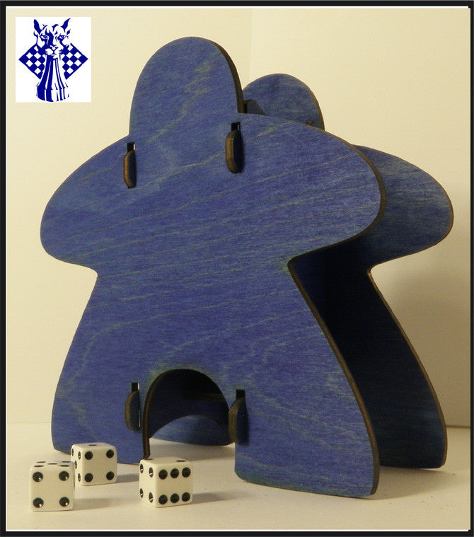 Knockdown Dice Tower - Meeple (Blue)