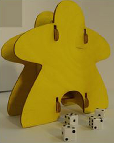 Knockdown Dice Tower - Meeple (Yellow)