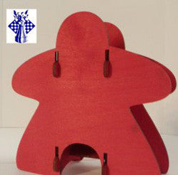 Knockdown Dice Tower - Meeple (Red)