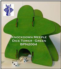 Knockdown Dice Tower - Meeple (Green)
