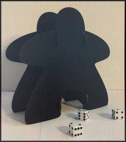 Knockdown Dice Tower - Meeple (Black)
