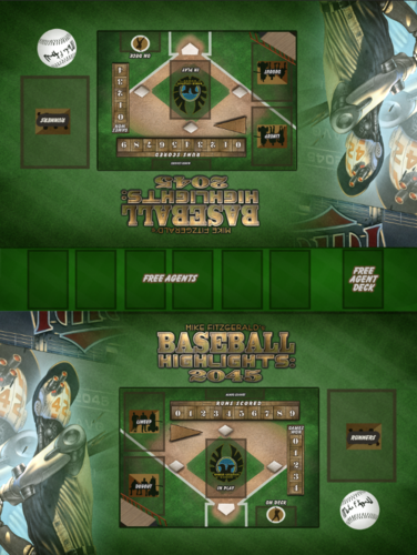 Baseball Highlights: 2045 - Double Player Play Mat