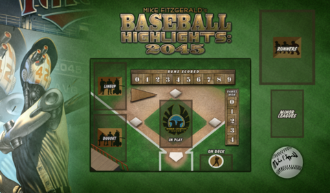 Baseball Highlights: 2045 - Single Player Play Mat