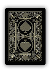 8-Bit Playing Cards Traditional Black and Gold Deck