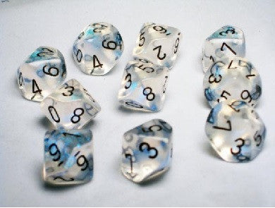 Chessex - 10D10 - Borealis - Aquerple/Black