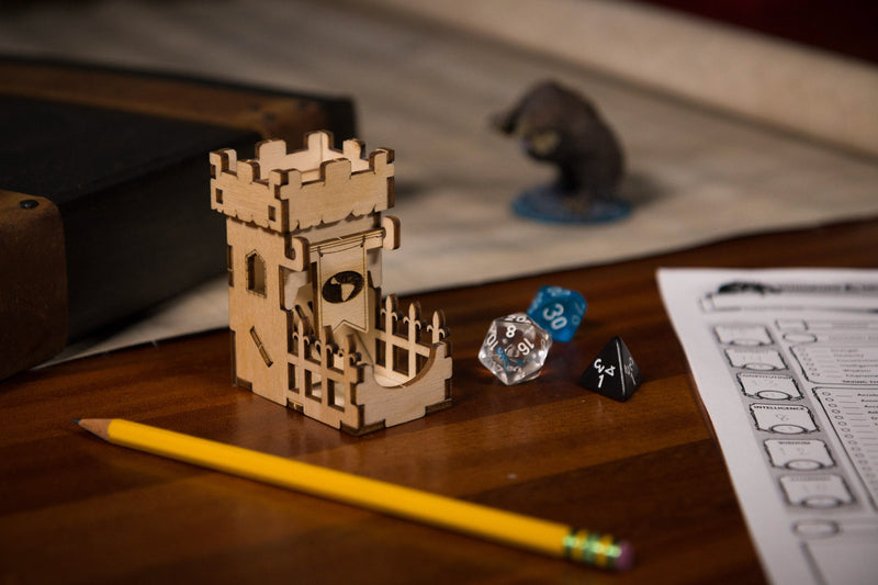 Broken Token - Tiny Dice Tower - The Keep (Tower and Two 10mm D6)