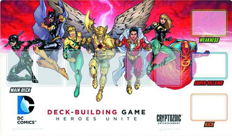 DC Comics Deck-Building Game: Heroes Unite Playmat