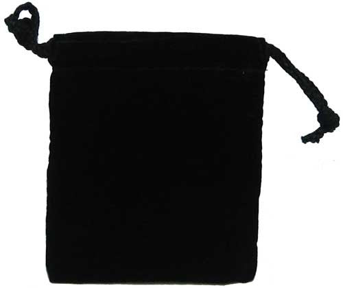 Cloth Dice Bag - 4'' x 5'' (Black)