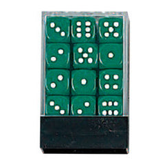 DLX Opaque Dice: 36pc 12mm (GREEN)