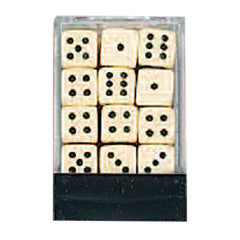 DLX Opaque Dice: 36pc 12mm (Ivory)