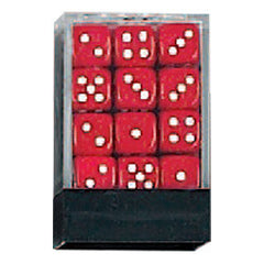 DLX Opaque Dice: 36pc 12mm (Red)