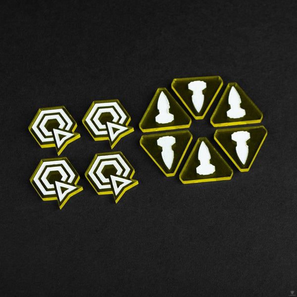 Laserox - Twilight Imperium: Command & Control Tokens (Yellow)