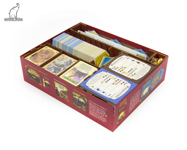Gaming Trunk - Settlers Organizer for Catan (Walnut)