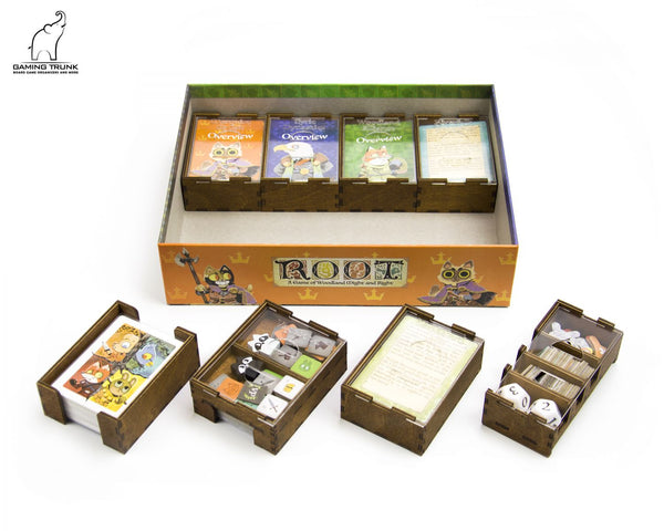 Gaming Trunk - Root Woodland Organizer for Root (Nature Unstained)