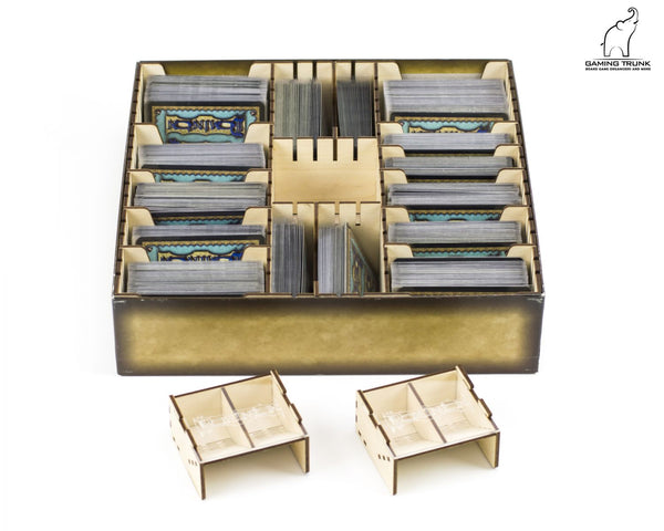 Gaming Trunk - Powerful Organizer for Dominion (Walnut. For sleeved cards)