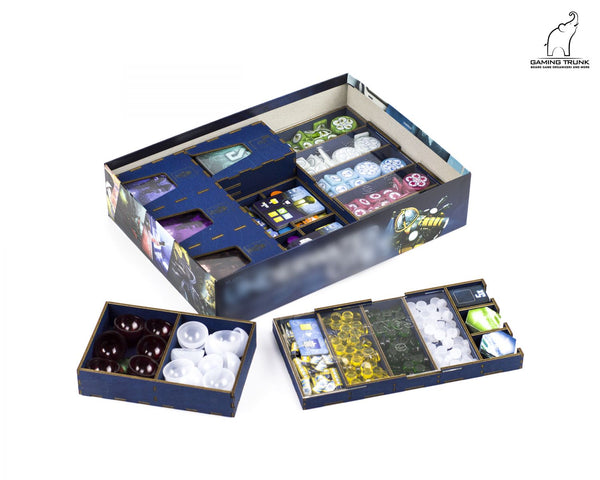 Gaming Trunk - Underwater Colony Organizer for Underwater cities (Blue)