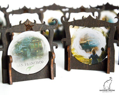 Gaming Trunk - Gate Markers for Eldritch Horror and Arkham Horror (Blue) (Sets of 5)