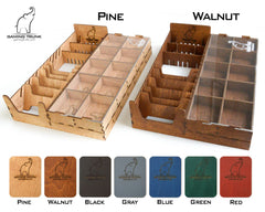 Gaming Trunk - New Farm Organizer for Agricola Revised Edition (Walnut)