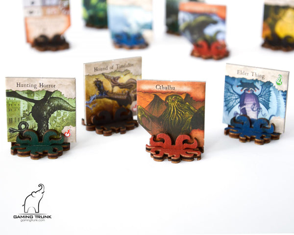 Gaming Trunk - Monster stands for Eldritch Horror and Arkham Horror (Blue) (Sets of 5)