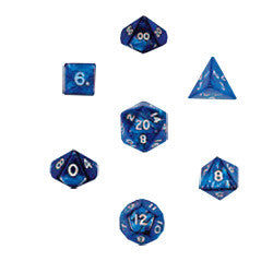 Dice Set - Pearlized Polyhedral 10pc - Navy