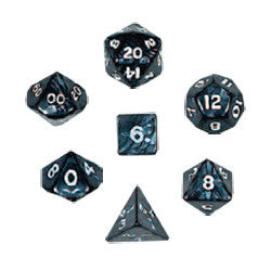Dice Set - Pearlized Polyhedral 7pc - Charcoal