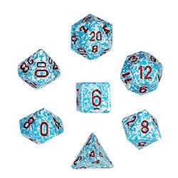 Dice Set - Elemental Dice 7pc - Air (Hook Top Tube)