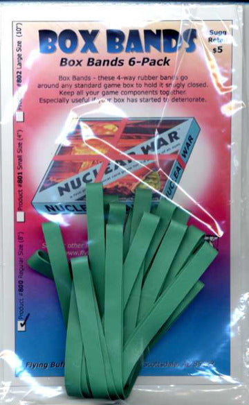 "Board Game Box Rubber Bands 8"" (Medium Green 6 pk)"