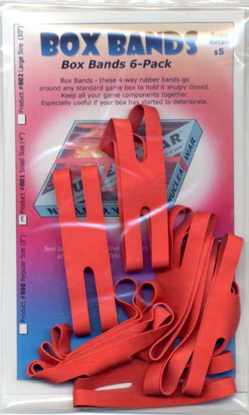 "Board Game Box Rubber Bands 4"" (Small Red 8 pk)"