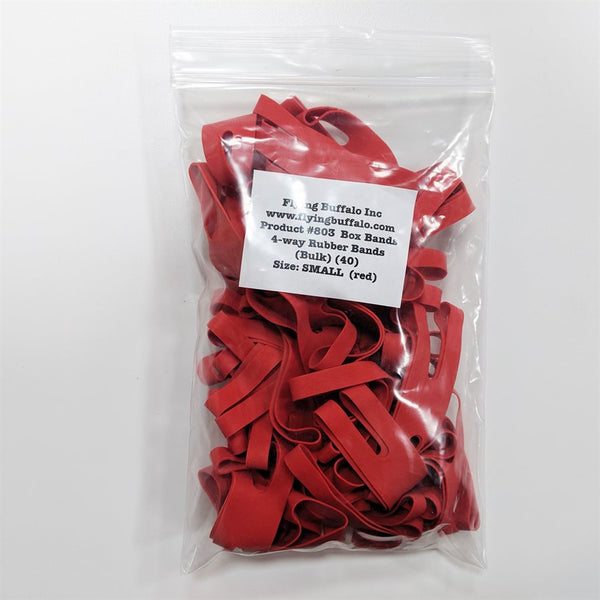 "Board Game Box Rubber Bands 4"" (Small Red 40 pk)"