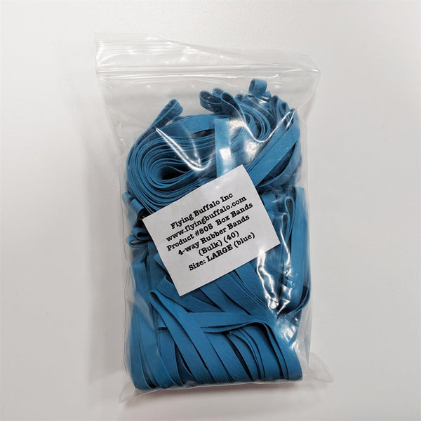 "Board Game Box Rubber Bands 10"" (Large Blue 40 pk)"