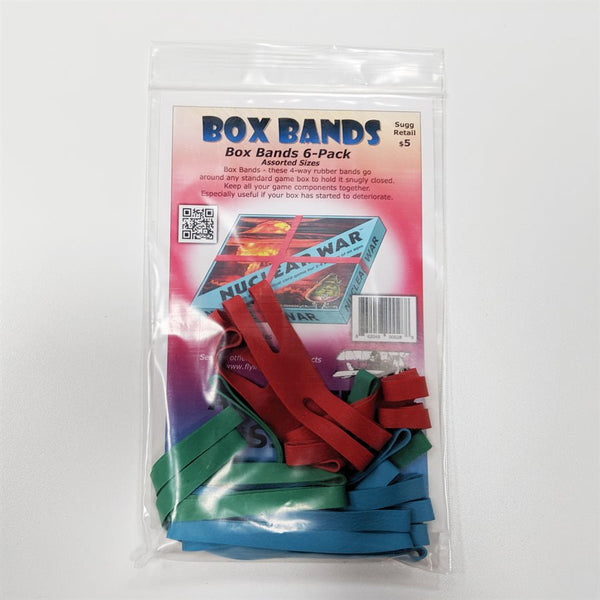 Board Game Box Rubber Bands Assorted (6 pk)