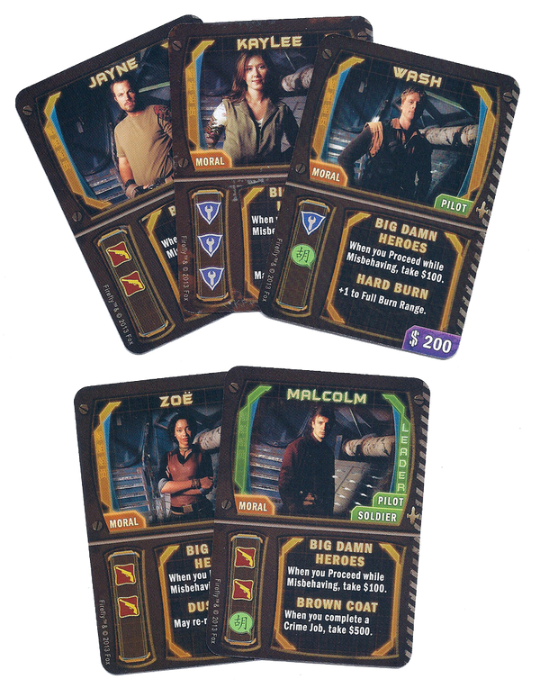 Firefly: The Game - Big Damn Heroes Promo Cards