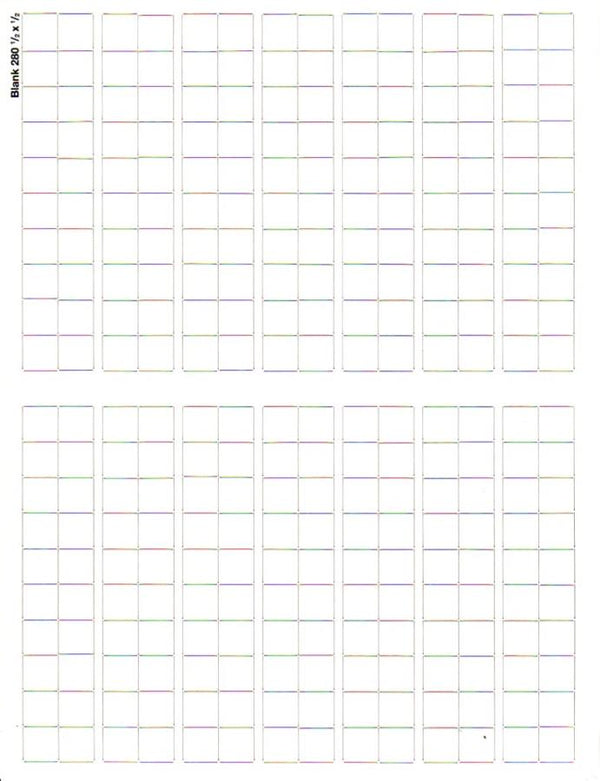 Blank Counter Sheet 1/2 inch (White)