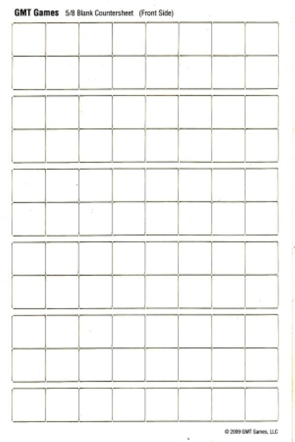 Blank Counter Sheet 5/8 inch (White)