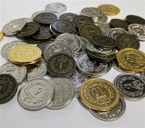 Generic Metal Coins: Set of 55 (Lisboa, Brass)