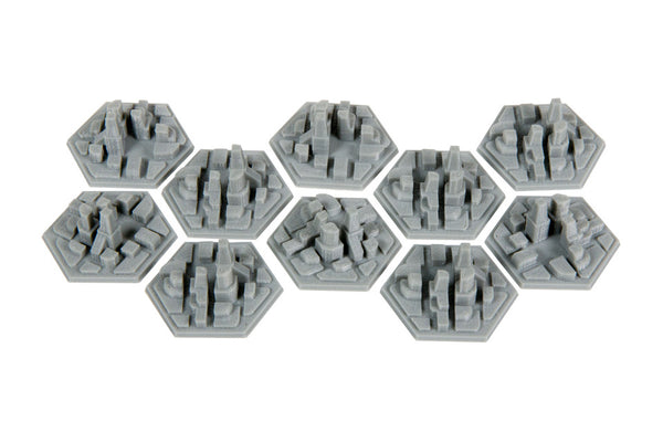 Broken Token - 3D Space Colony City Hex Tiles (10)