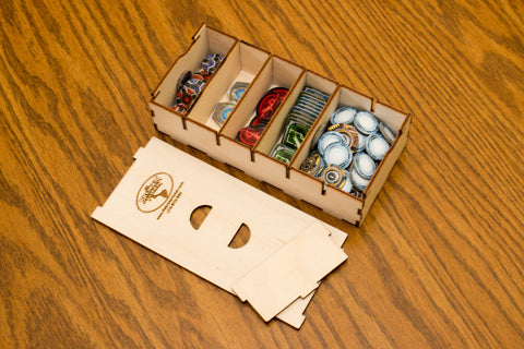 The Broken Token - Short Bits Box for Sleeved Card Game Organizer