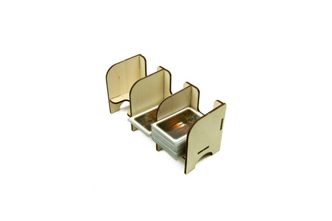 The Broken Token - Tabletop Card Holder - 3 Tray Mini