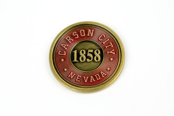 Broken Token - Carson City Metal Turn Marker Coin