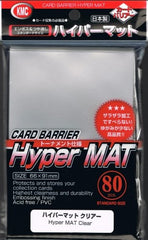 KMC Card Barrier: Hyper Matte Sleeves - Clear (80)