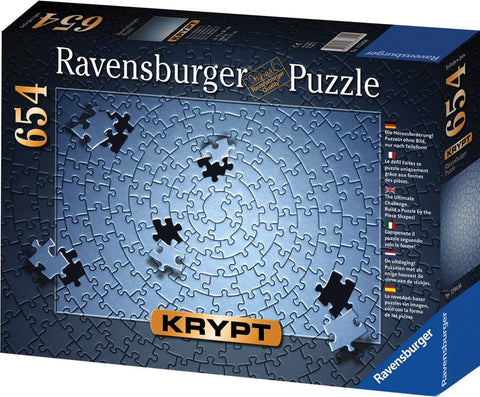 Puzzle - Krypt Silver - 654 pc Blank Puzzle Challenge