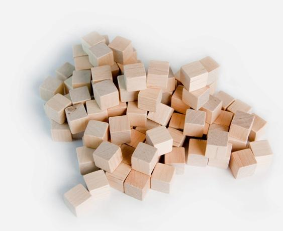 Mayday - Wood Cubes 10mm - Natural (100ct)