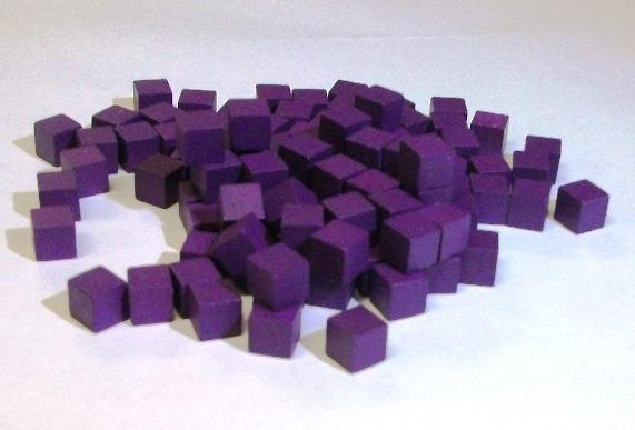 Mayday - Wood Cubes 10mm - Purple (100ct)