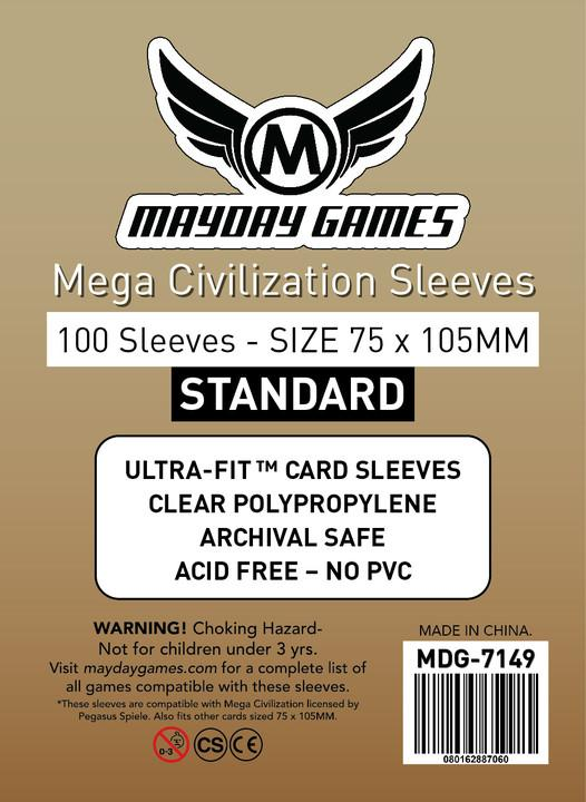 Mayday - Mega Civilization Sleeves (75x105mm)