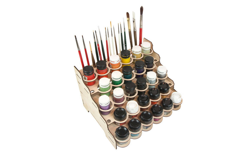 Broken Token - Modular Paint Rack - Straight - 35mm Pot Style Jars